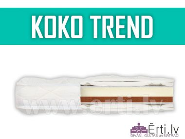 Koko Trend – dažādām gaumēm divpusējs virsmatracis