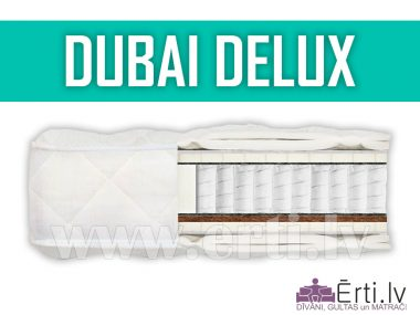 Dubai Delux – Elitārs matracis ar lateksu un kokosriekstu šķiedru