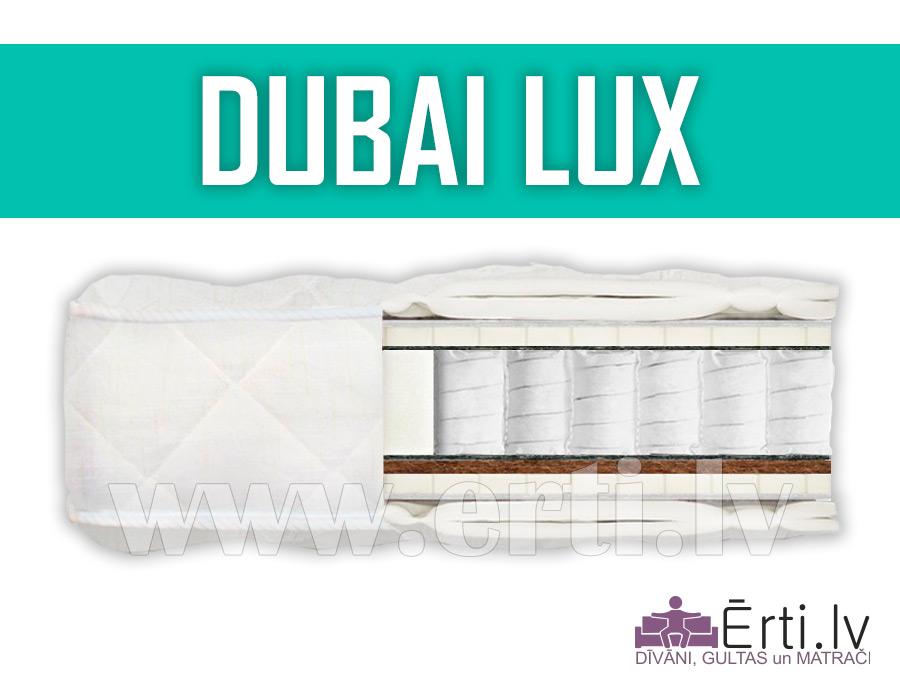 Dubai Lux – Elitārs matracis ar lateksu un kokosriekstu šķiedru