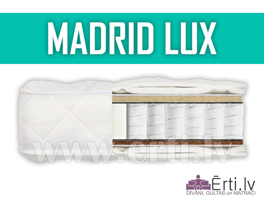 Madrid Lux – Mūsdienīgs, labi ventilējams matracis