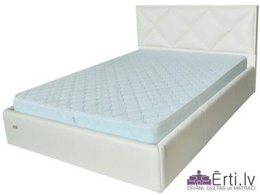 Leeds LUX – Кровать из ткани или эко-кожи с УГЛУБЛЕННЫМ бельевым ящиком