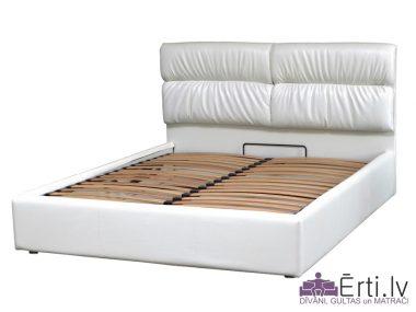 Oxford LUX – Кровать из ткани или эко-кожи с УГЛУБЛЕННЫМ бельевым ящиком