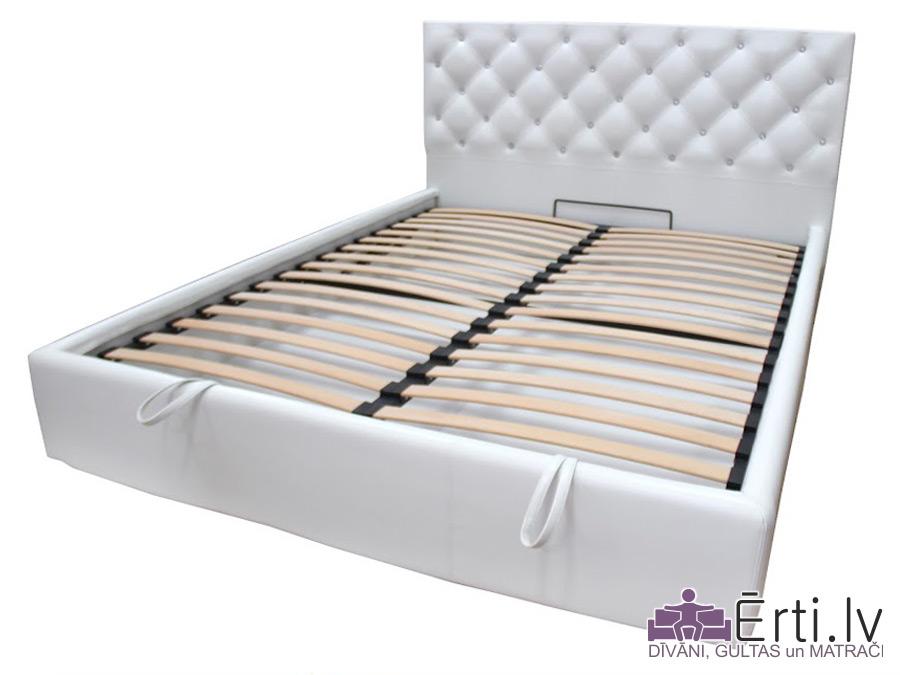 Coventry plus – Кровать из ткани или эко-кожи с пуговицами и бельевым ящиком