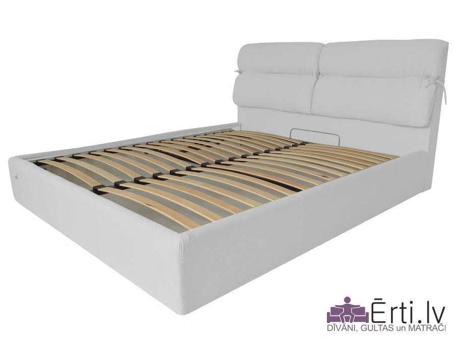 Edinburgh LUX – Кровать из ткани или эко-кожи с УГЛУБЛЕННЫМ бельевым ящиком