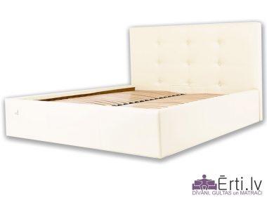 4753Manchester plus – Кровать из ткани или эко-кожи с пуговицами и бельевым ящиком