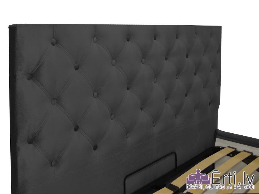 Coventry lux – Кровать из ткани или эко-кожи с пуговицами и УГЛУБЛЕННЫМ бельевым ящиком