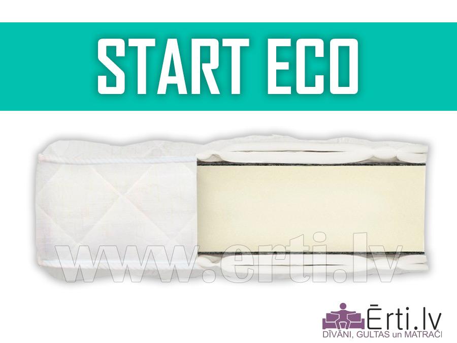 Start Eco – Lēts bezatsperu matracis ar ortopedisku efektu