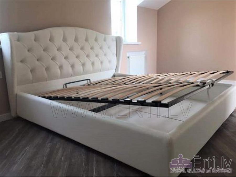 Кровать RETRO – Оригинальная кровать из ткани с бельевым ящиком