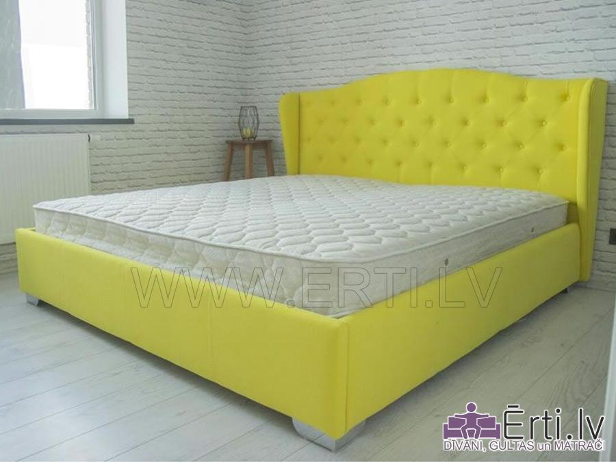Retro – Оригинальная кровать из ткани с бельевым ящиком