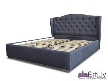 6819Кровать RETRO – Оригинальная кровать из ткани с бельевым ящиком