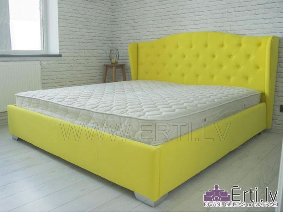 Retro – Eleganta auduma gulta ar veļaskasti