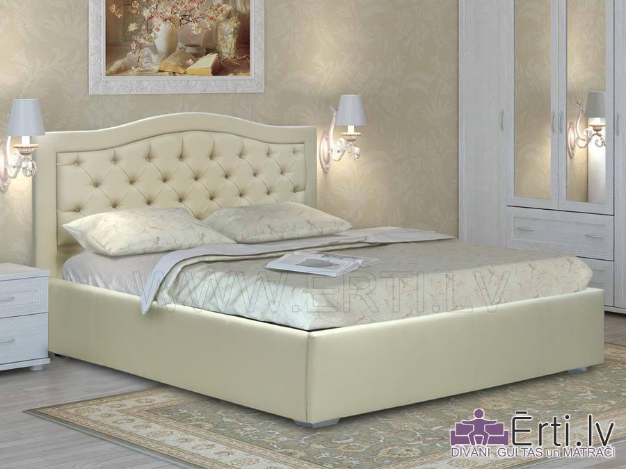 Gulta QUEEN – Klasiski eleganta gulta ar veļaskasti