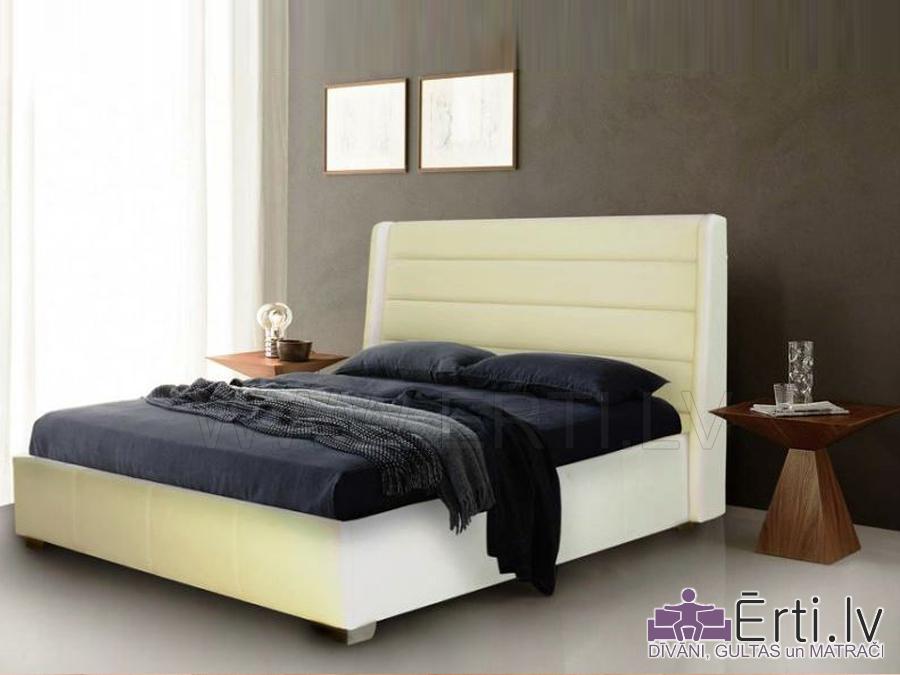 Gulta RIMO – Izsmalcināta auduma gulta ar veļas kasti